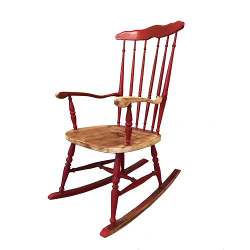 sedia-a-dondolo-rossa