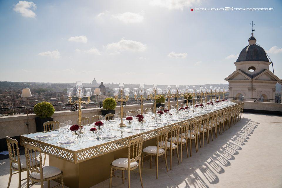 Un meraviglioso matrimonio sulla terrazza più suggestiva di Roma ...