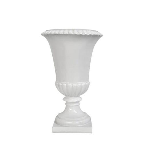 VASO VERSAILLES PVC BIANCO H 25