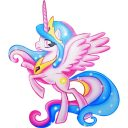 SAGOMA LEGNO LITTLE PONY - CELESTIA -
