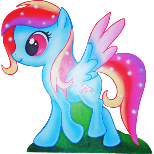 SAGOMA LEGNO LITTLE PONY - RAINBOW DASH