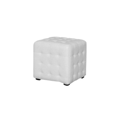 POUF CHESTER PELLE BIANCO
