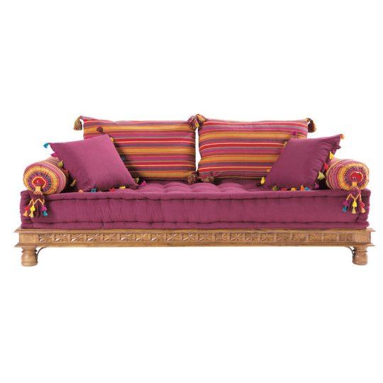 divano marocchino cotone e legno