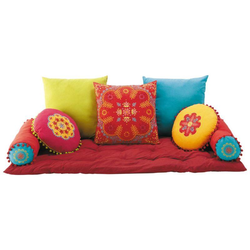 futon con cuscini 150X70X48